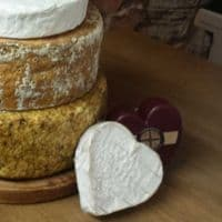 Amelie cheese wedding cake, 8.7kg cheese tower.